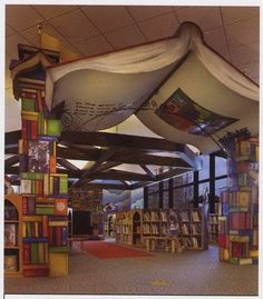 Ceiling art idea for a library