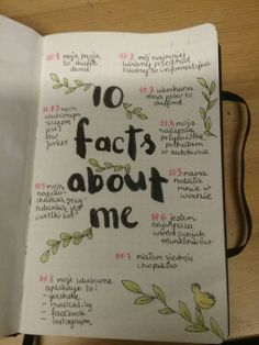#bulletjournal#polish_rules#facts_about_me#good