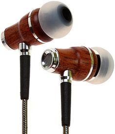 Symphonized NRG 2.0 Premium In-Ohr Kopfh�rer aus edlem Holz, sehr ger�uschisolierend, mit innovativer Abschirmtechnologie, Kabel und Mikrofon