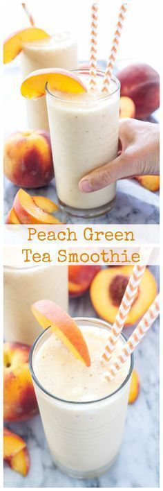 Peach Smoothie Recipe With Milk.Green Peach Smoothie For Kids Healthy Ideas For Kids. Tropical Smoothie Recipe Dinner At The Zoo. Green Tea Smoothie, Juice Smoothie, Smoothie Drinks, Smoothie Bowl, Juice Drinks, Yummy Drinks, Healthy Drinks, Yummy Food, Healthy Recipes