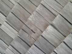 Cedar roof in need of repair.