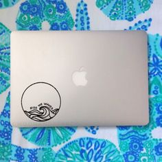 Ride The Waves Vinyl Decal Laptop Decal Car by MoonAndStarCo