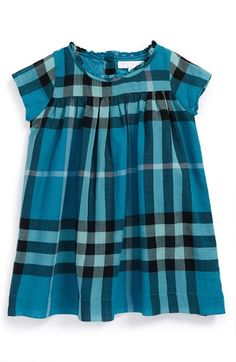 Burberry 'Della' Check Print Cotton Dress (Baby Girls) available at #Nordstrom
