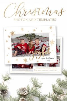 Wish your friends and family a joyful season with this snowflake Holiday Card Template. You can quickly and easily edit your card online in your web browser, then download and print right away! No software needed! Your beautiful family photos will look perfect in this 5x7 photo card. Demo Now! #ChristmasCards #ChristmasCardIdeas #ChristmasTemplate #ChristmasCard #HolidayPhotoCard