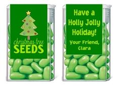 Christmas Tree Seeds Tic Tac Labels. Christmas Tic Tac Labels are fun Christmas party favor ideas for adult parties or for children's parties.