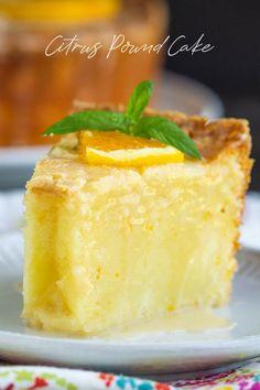 Whip up this super tasty glazed Citrus Pound Cake to make the most of the citrus season! #lemon #orange #cake #poundcake #poundcakepaula #dessert #recipe #moist #paula #homemade #bundt Lemon Desserts, Köstliche Desserts, Best Dessert Recipes, Delicious Desserts, Plated Desserts, Citrus Recipes, Sweet Recipes, Baking Recipes, Cookie Recipes