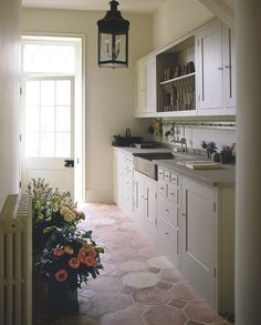 Beautiful and simple kitchen with concrete sink