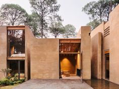 Completed in 2017 in Valle de Bravo, Mexico. Images by Rory Gardiner. In the middle of the forest in Valle de Bravo, Mexico, five houses are dispersed in the land surrounded by mountains. Each house (five with the same. Residential Architecture, Contemporary Architecture, Interior Architecture, Residential Complex, Sustainable Architecture, Landscape Architecture, Landscape Design, Modern House Design, Modern Interior Design