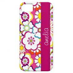 Pink Trendy Floral iPhone 5 Case  #monogram #customize #personalize #gift #iPhone5 #zazzle