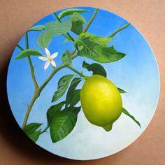 Edgar Soberon Limonero  Oil on canvas 18 in diameter  Private collection