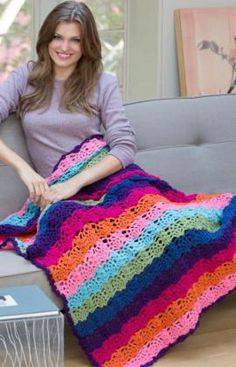 **Free Tropical Explosion Crocheted Afghan Pattern**