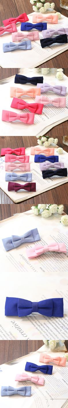 12pcs/lot Women's fashion hair jewelry sweet bowknot design hairpins candy color bobby pins hairgrips girls head wear #JH083