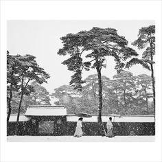 Werner Bischof - In the Court of the Meiji Temple, Tokyo, Japan, 1952 Werner Bischof (Swiss, 1916–1954)
