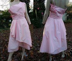 One Shoulder Dress / 80s Prom Dress by Victor by gottagovintage1