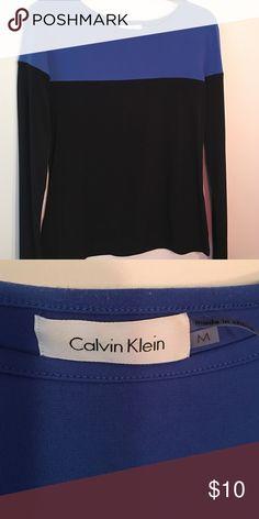 """Calvin Klein color block shirt 95% poly/ 5% spandex. 23"""" long, 14"""" across Calvin Klein Tops"""
