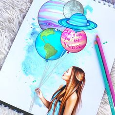 "254.4 tusind Synes godt om, 839 kommentarer – Lauren Riihimaki (@laurdiy) på Instagram: ""I'd give you the universe ❤ (✏️: @colour_me_creative this girl is INSANELY talented!!!! go…"""