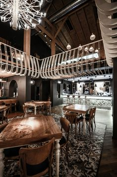 Industrial-Eclectic Restaurant and Events Venue in Craiova, Romania: Smart Pub - http://freshome.com/2014/10/24/industrial-eclectic-restaurant-and-events-venue-in-craiova-romania-smart-pub/