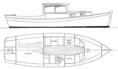 Redwing 21 Pilothouse - Boat Plans and Yacht Designs -- Chesapeake Marine Design Plywood Boat Plans, Wooden Boat Plans, Wooden Boats, Yacht Design, Boat Design, Small Power Boats, Pilothouse Boat, Utility Boat, Small Yachts
