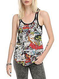 HOTTOPIC.COM - Marvel Comic Panels Girls T-Shirt