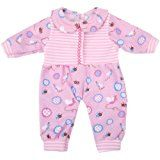 Bitty Baby Doll Clothes, AOFUL Cute Lovely Jumpsuit pajamas Outfit Fits 14''- 16'' inch American Girl Dolls and More