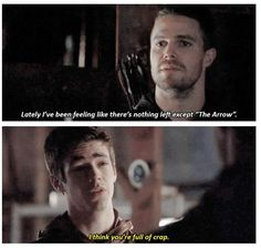 "#Arrow 3x08 ""The Brave and the Bold"" - Barry and Oliver"