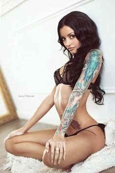 sexy, tattoo, girls