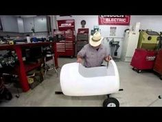 With a bit of welding and drilling, you can make a fun barrel train that will entertain for hours.