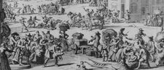Detail of expulsion of Huguenots from La Rochelle of 300 Protestant famillies Nov 1661