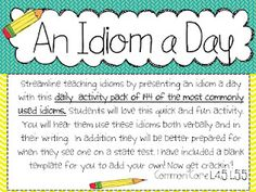 144 of the most commonly used idioms and created a bundle of 18 worksheets that have 8 idioms per sheet.