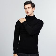 Best Turtleneck Shirt Ideas For Men Look More Handsome Mens Turtleneck, Ribbed Sweater, Cotton Sweater, Pullover Sweaters, Warm Clothes For Men, How To Look Handsome, Warm Outfits, All About Fashion, Men Looks