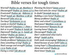 Going through tough times? Search through these scriptures for assurance and guidance
