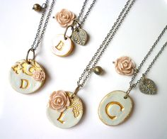 Bridesmaid necklace - soo lovely, I might have to have these made for my girls :-)