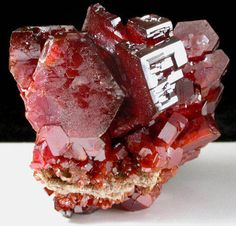 Mineral Specimens: Vanadinite from Mibladen, Atlas Mountains, Khénifra Province, Morocco