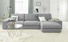 Ecksofa Brooke | Hellgrau | Möbel Höffner Minimalist Room, Minimalist Home Decor, Minimalist Interior, Minimalist Design, Cozy Sofa, Decor Styles, Small Spaces, Interior Design, Furniture