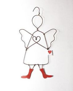 Überrasche deine Freunde mit einem Herz-Schutzengel aus Draht. #handmade #madewithlove #lovegift