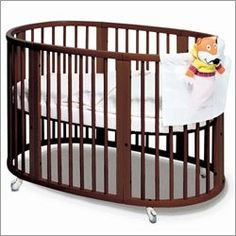 Baby Cribs Nursery Furniture - Convertible Round Designer