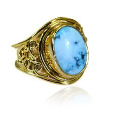 Turquoise Copper pleasant exporter Ring Turquoise L-1in UK KMOQ