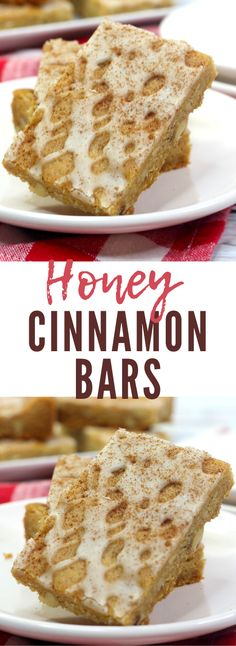 Honey Cinnamon Bars - Mama's On A Budget Honey Cookies, Cinnamon Cookies, Cinnamon Cake, Honey And Cinnamon, Sweets Recipes, Easy Desserts, Delicious Desserts, Snack Recipes, Chunky Chocolate Chip Cookies