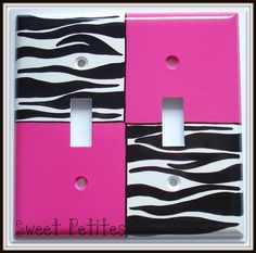 Hand Painted Switch Plate Cover Hot Pink by SweetPetitesBoutique, $24.95