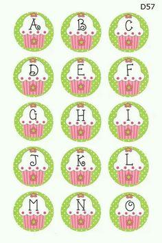 #printables #cupcake #letras