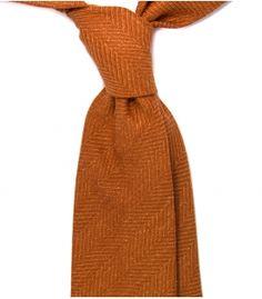 Oranžová kravata rybí kost