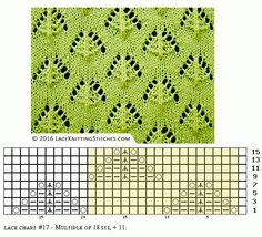 Lace knitting - Free chart No.17