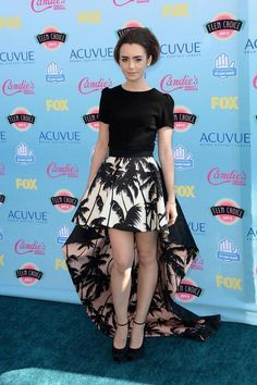 Lily Collins' style and fashion transformation—her best red carpet looks over the years. Teen Choice Awards - August 2013