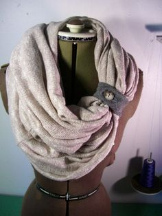Infinity Scarf sweater circle scarf wrap options with by sewmoe, $35.00