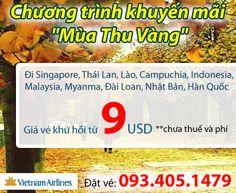"""VietNam Airlines Khuyến Mãi Chương Trình """"Mùa Thu Vàng"""", Xem thêm: http://viet-nam-airlines.com/vietnam-airlines-khuyen-mai/vietnam-airlines-khuyen-mai-chuong-trinh-mua-thu-vang.html"""