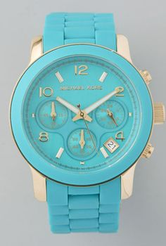 Gold/Turquoise Michael Kors...