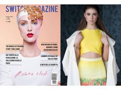Stephano Floral Print Dress featured in Italian publication Switch Magazine.