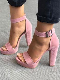 Sexy Open Toe Chunky Heeled Heeled Sandals
