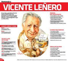 #Infografia #Homenaje a Vicente Leñero vía @candidman El #Escritor y #Periodista Vicente Leñero falleció este 3 de diciembre a la edad de 81 años, dejando al país un gran legado #Literario y cinematográfico.