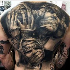 61 Best Stylish, Beautiful and Unique Tattoos for Men unique tattoos for men; unique tattoos for couples; unique tattoos for my son; unique tattoos for lost loved ones; unique tattoos for parents; unique tattoos for best friends Evil Tattoos, Creepy Tattoos, Badass Tattoos, Skull Tattoos, Sexy Tattoos, Body Art Tattoos, Hand Tattoos, Unique Tattoos For Men, Back Tattoos For Guys
